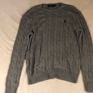 Men's Polo by Ralph Lauren Gray Sweater Size Small
